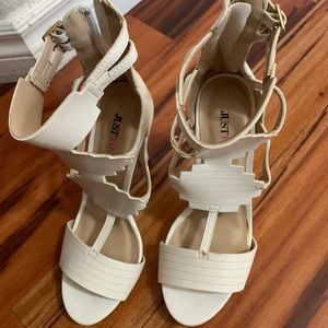 Shoes size 6 1/2 cream color Just Fab